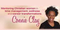 Connie Clay logo slide
