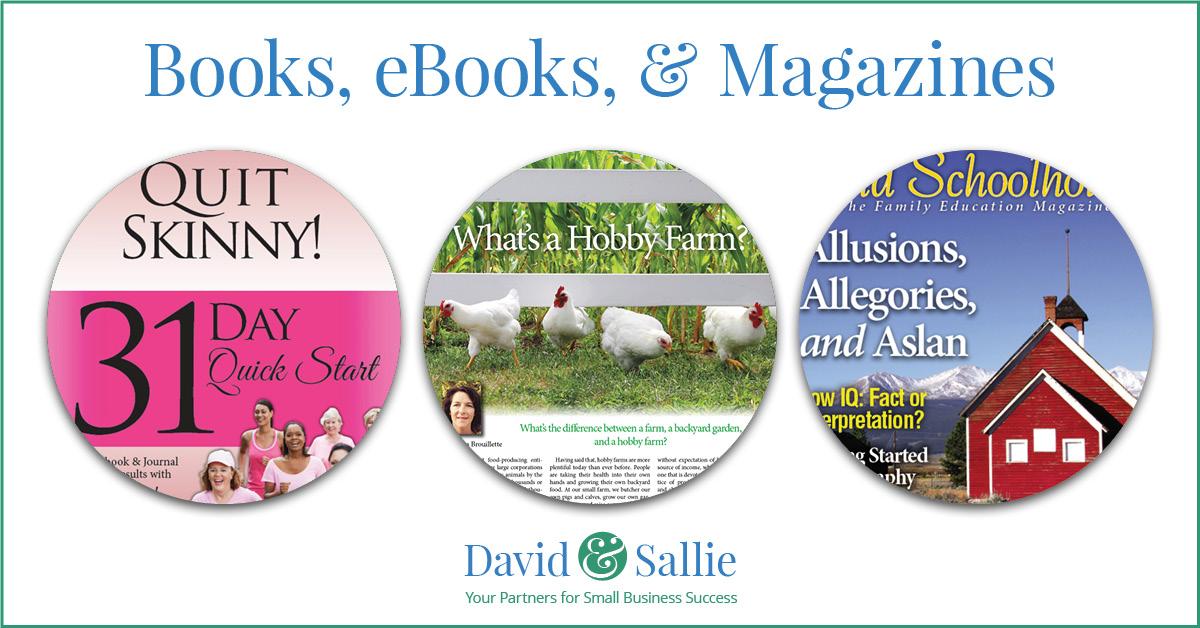 Books, ebooks & Magazines