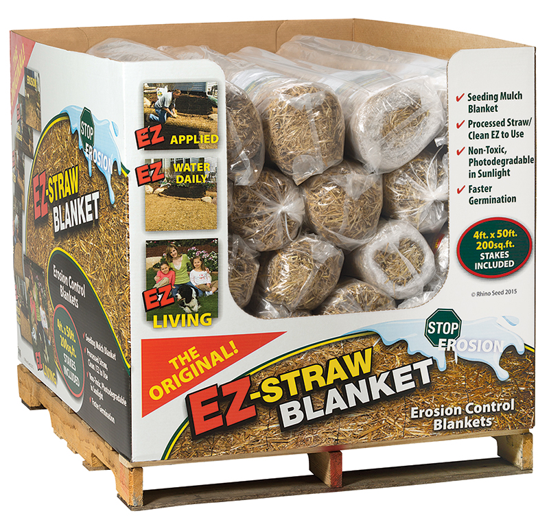 Display carton for EZ-Straw Blankets