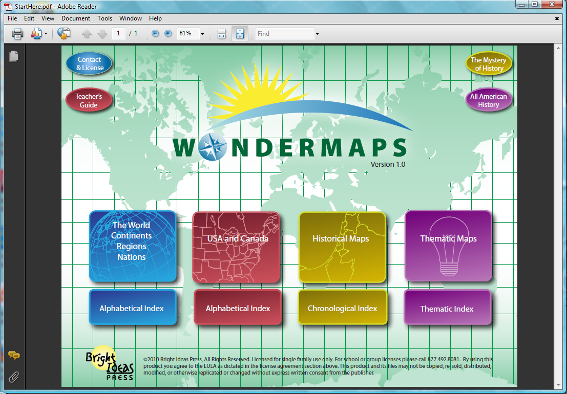WonderMaps Splash Page